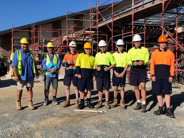 Emmaus College Students Learn on Jimboomba Job Site