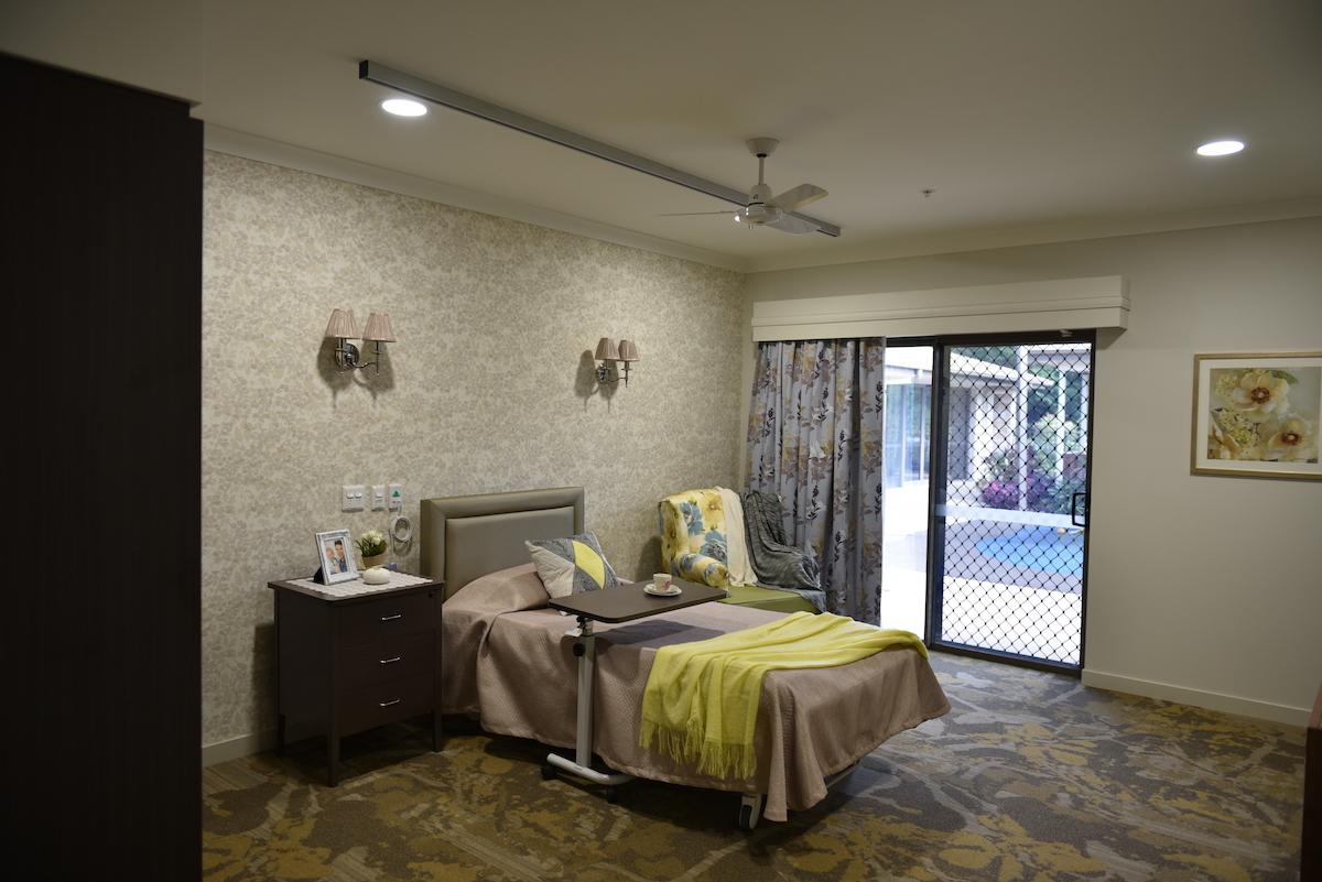 Signature Care's Single Bedroom
